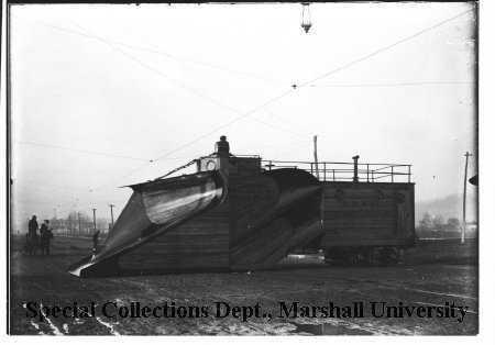 Snowplow manufactured by Ensign, 1898