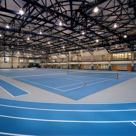 This is a photo of the fieldhouse in Bruner Fitness and Recreation Center.