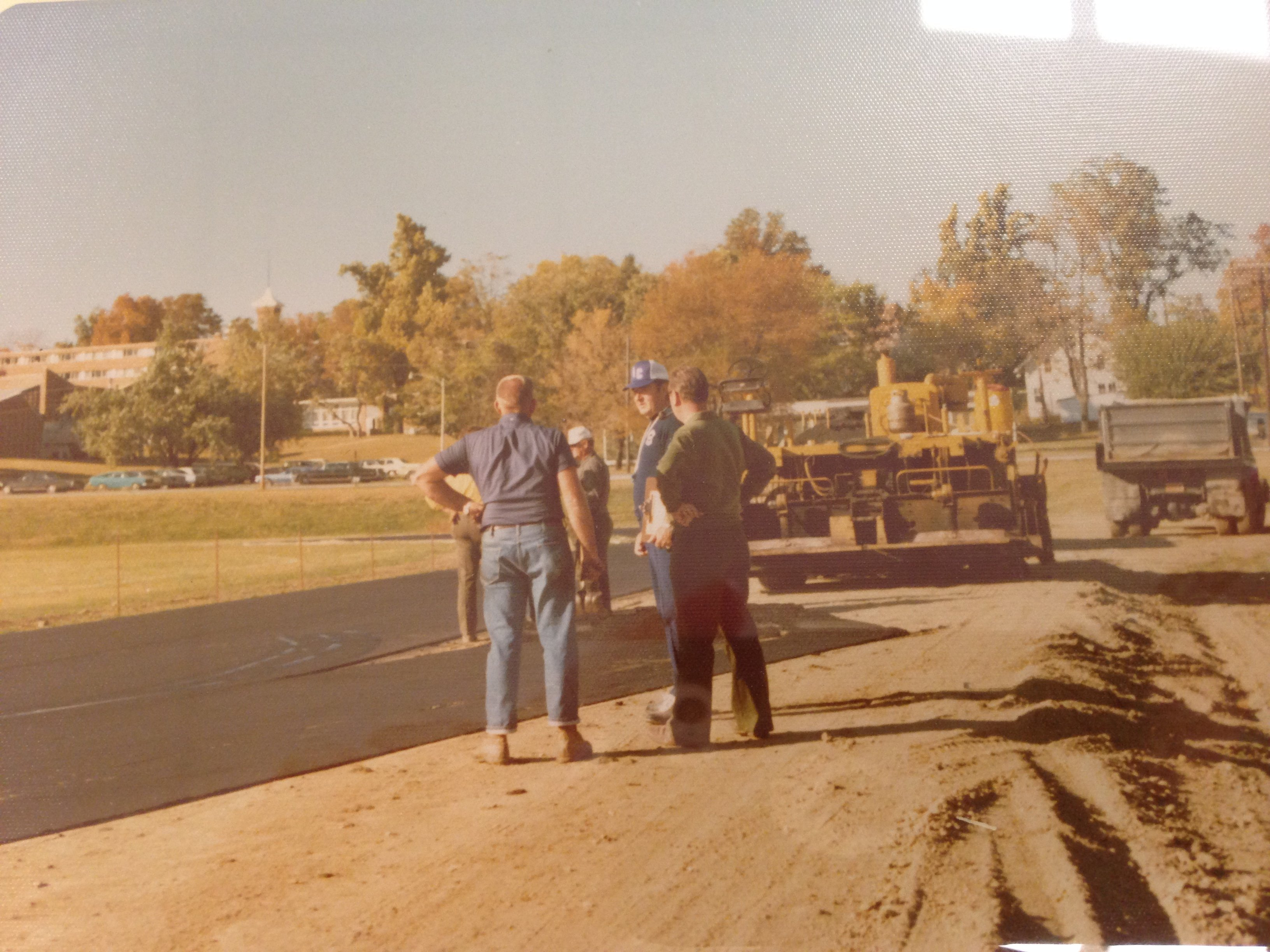 This is a photograph of the construction of Bruner Fitness and Recreation Center.