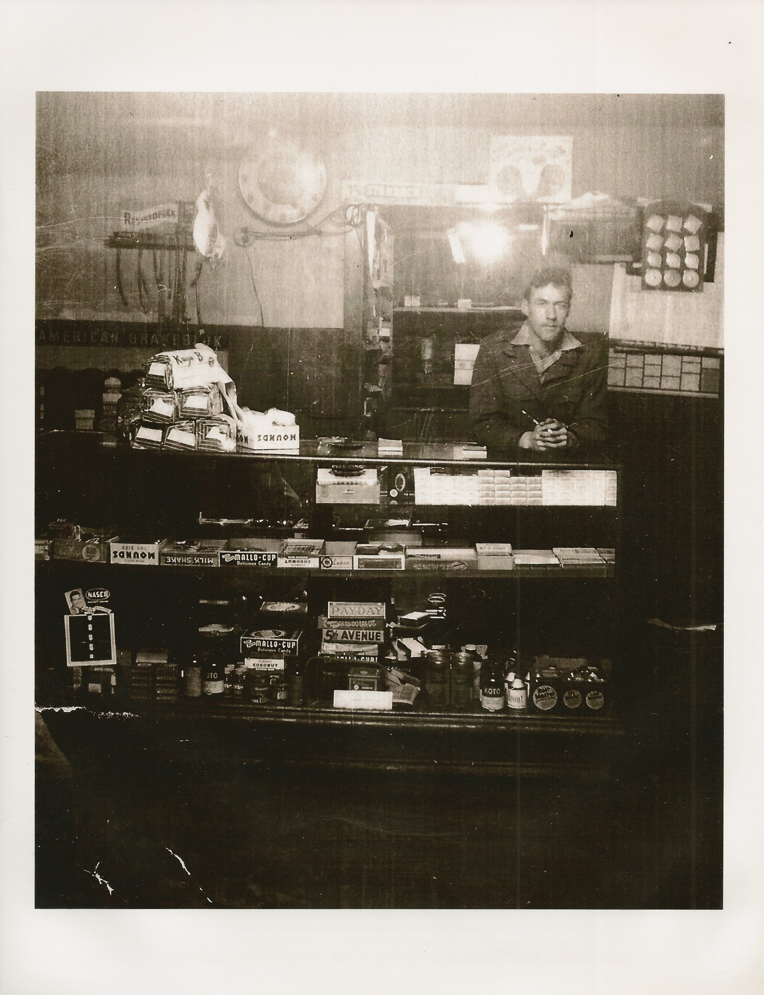 Paul Davis who operated the Esso Station in the 1940s-1950s