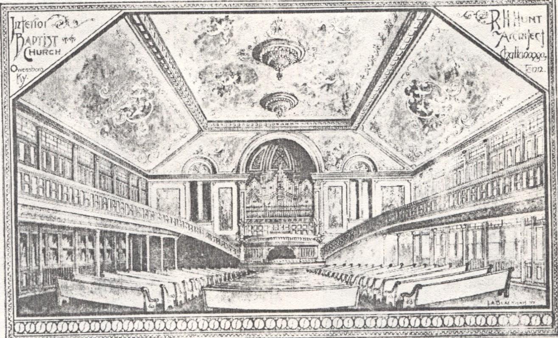 Sketch Drawing of Interior, ca. 1903