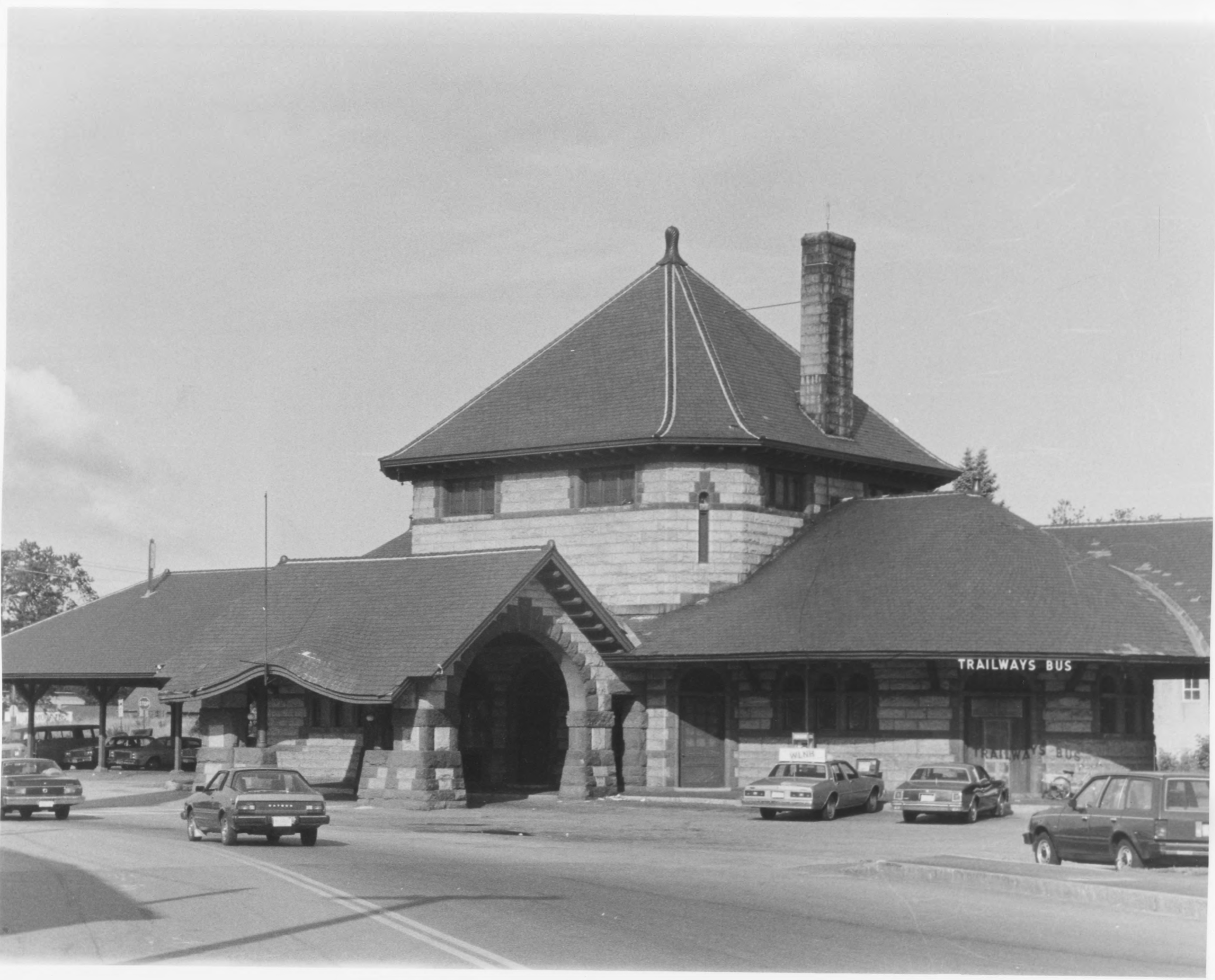 Eastern Exterior of Laconia Station by Roger P. Akeley, Jr. In July of 1981 Provided by NPS NRHP