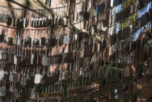 These dog tags produce a wind chime like sound