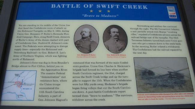 Swift Creek Historical Marker