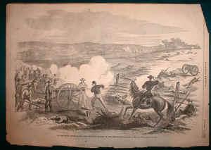 Postwar sketch of the Battle of Swift Creek from the Union side