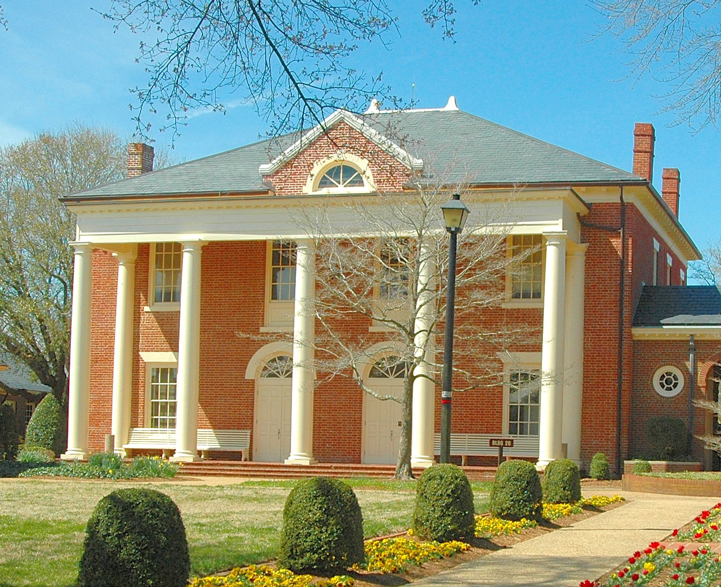 The 1822 Princess Anne County Courthouse as it appears today.