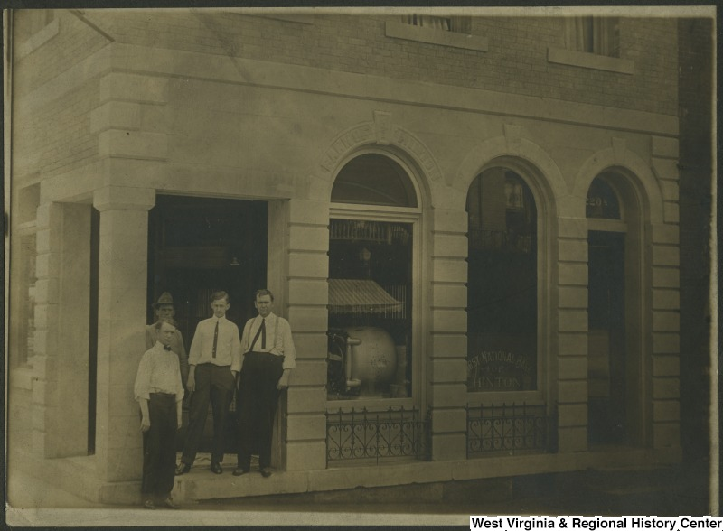 First National Bank, circa 1910. Source: WV History OnView.