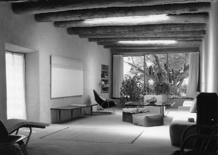 O'Keeffe's home and studio in Abiquiu,  was a source of inspiration. National Park Service.