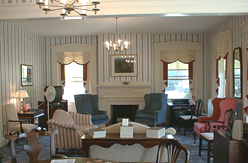 A sitting room within the Emma Willard House.