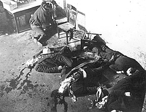 North Side Gang members following the St. Valentine's Day Massacre