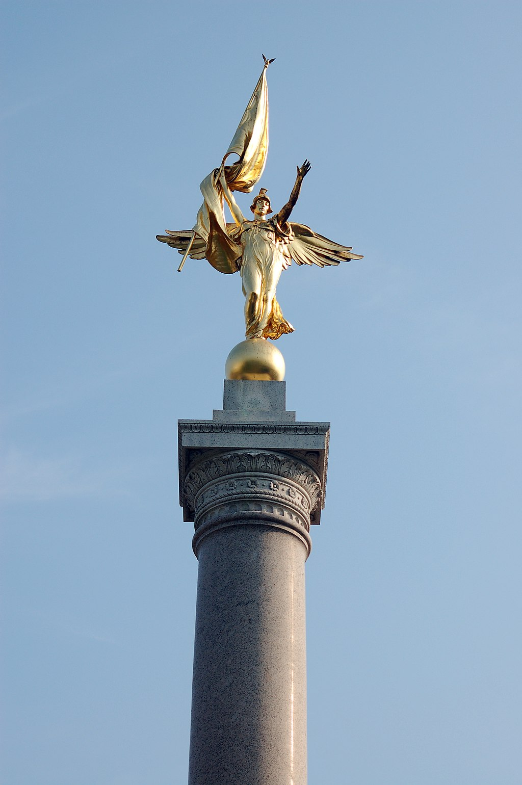 The winged statue of Victory by Daniel Chester French stands tall in President's Park. Photo by Rob Young, Wikimedia.
