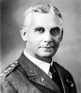 Portrait of Major General Charles P. Summerall, one of the leading visionaries of the First Division Monument. Courtesy of the United States Army.