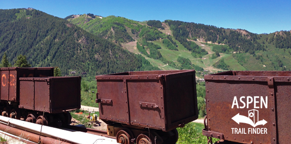 Old mining cars at Smuggler Mine