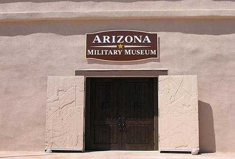The front door of the Arizona Military Museum