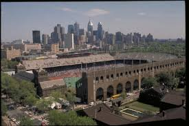 Franklin Field looking North East to the Philadelphia skyline.  Digital Image. http://www.stadiumsofprofootball.com/stadiums/franklin-field/ /. 12-7-2017. Web. 2001-2017.