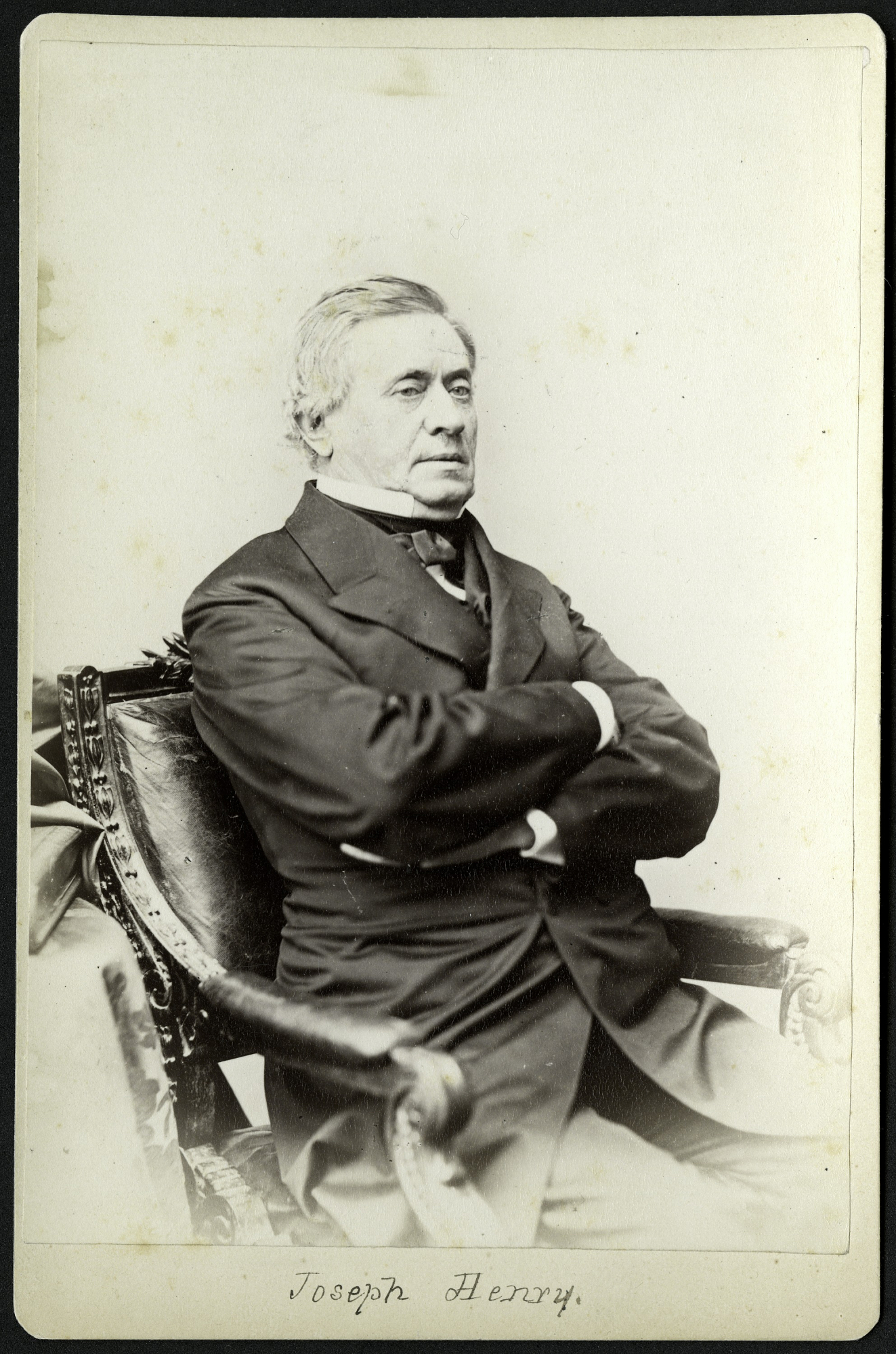 Portrait of Joseph Henry by renowned photographer Mathew Brady. Courtesy of the Smithsonian Institution Archives.
