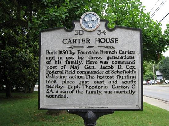 Carter House historical marker