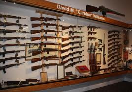 Some firearms on display