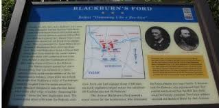 This historical marker is located just west of Centreville Road