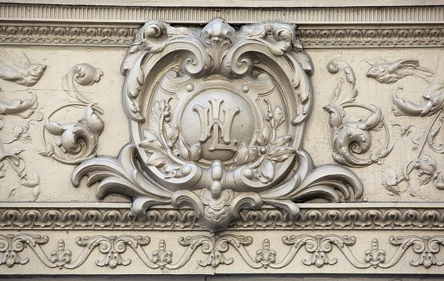 Woodward & Lothrop's monogram is still visible on the building's exterior. Photo by Carol M. Highsmith, Library of Congress.