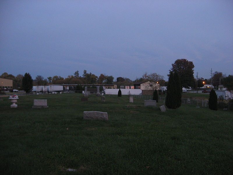 Another view of the headstones.