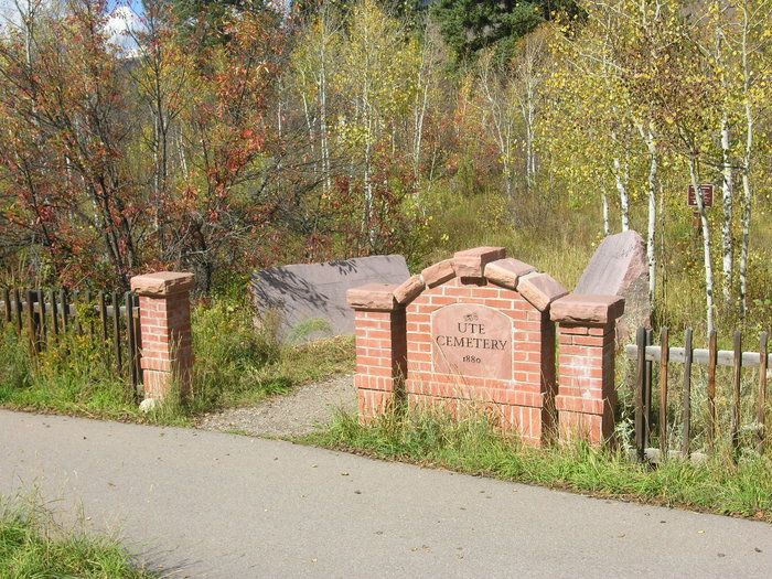 Entrance to the Ute Cemetery