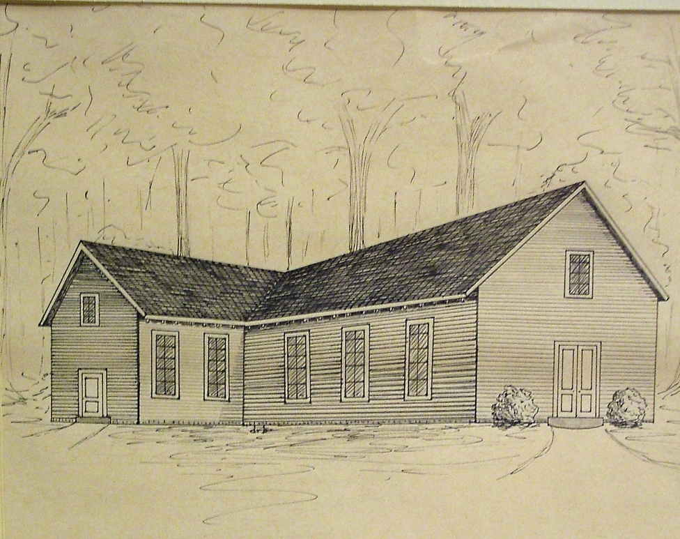 A rendition of what the Ware Bottom church may have looked like around 1860