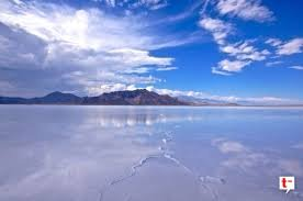 During the cooler months, the Bonneville Salt Flats flood because evaporation decreases.