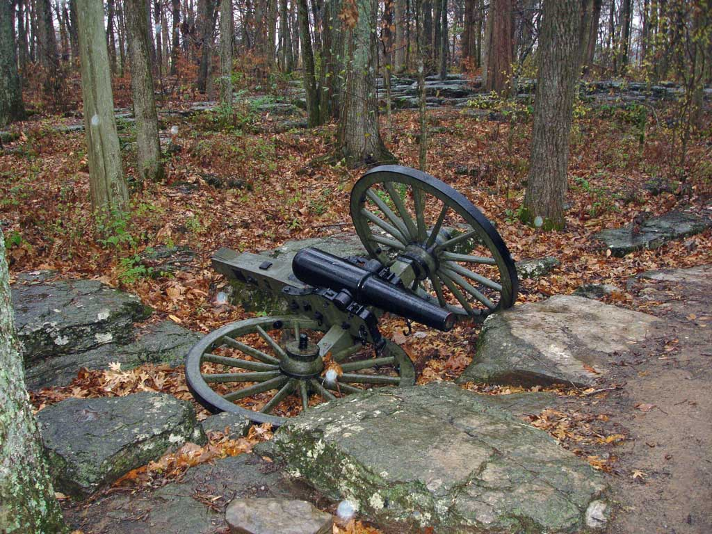 A cannon at the battlefield.