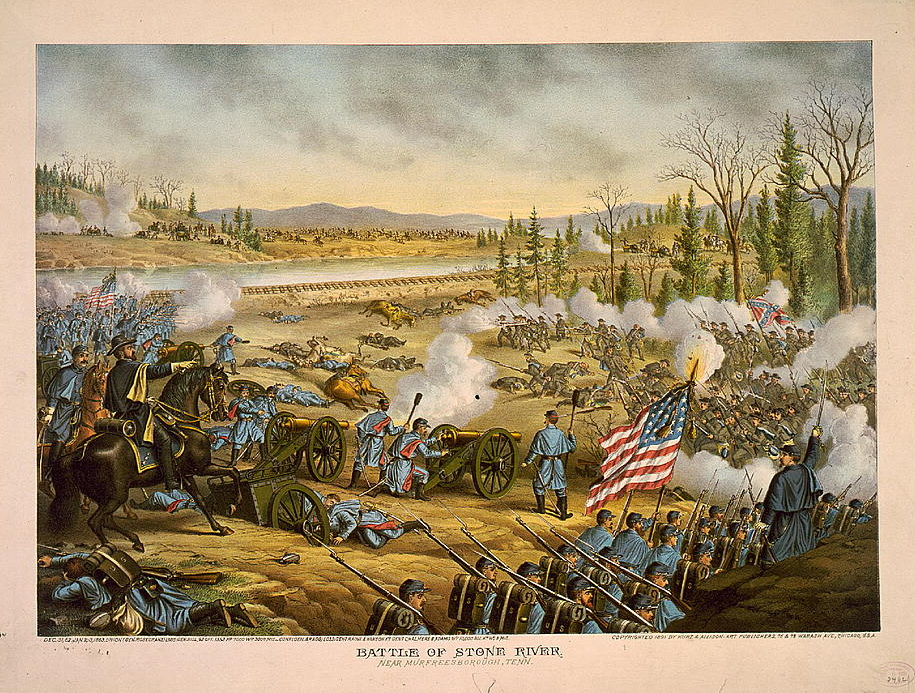 A depiction of the battle.