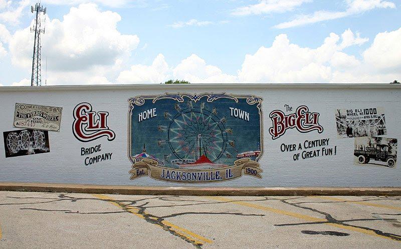 Full Picture of the Eli Bridge Co. Mural.