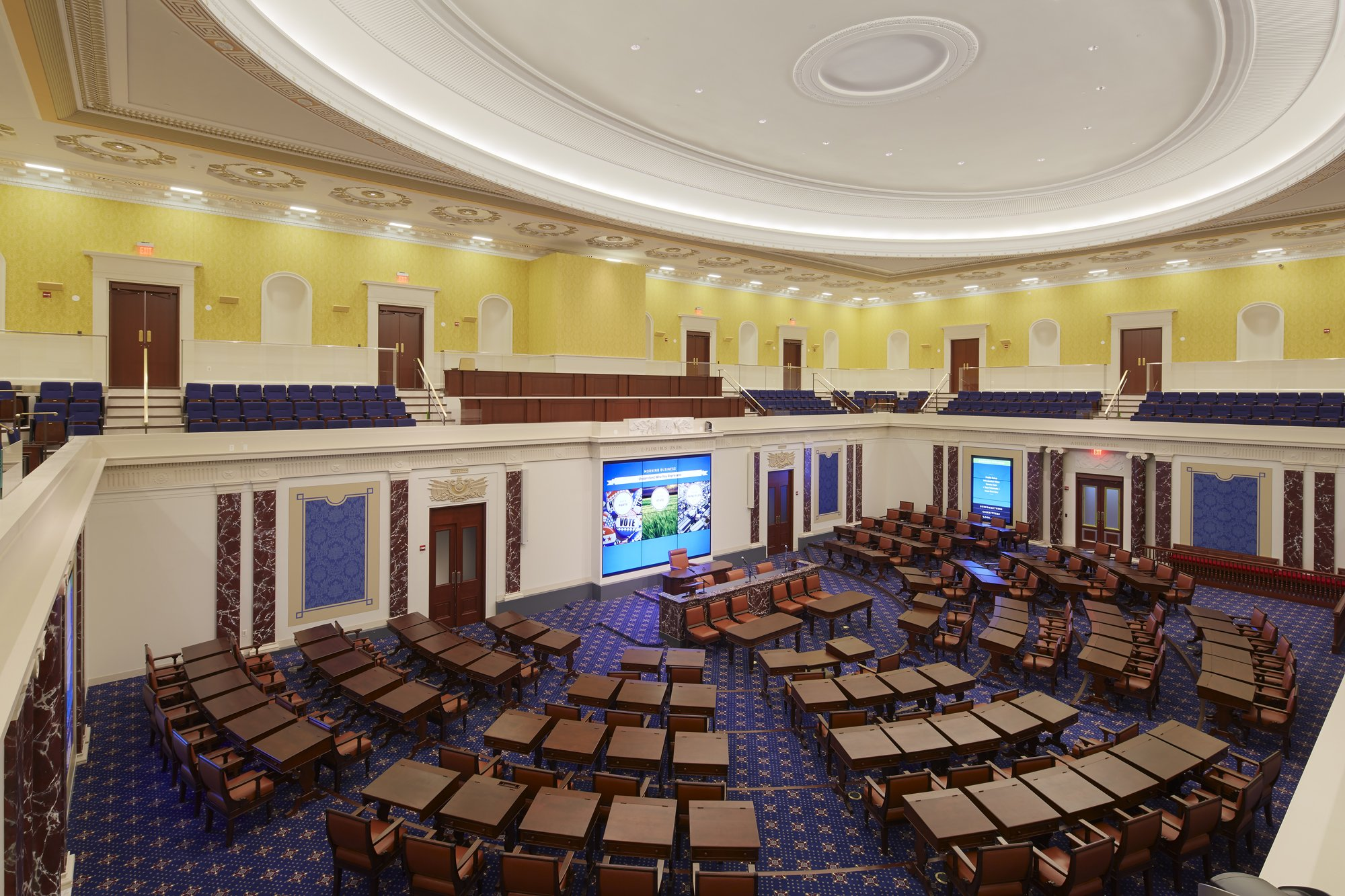 Full-scale Senate Chamber Replica inside the Institute