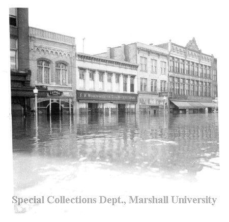 The Princess Shop and other 3rd Avenue shops during the 1937 flood
