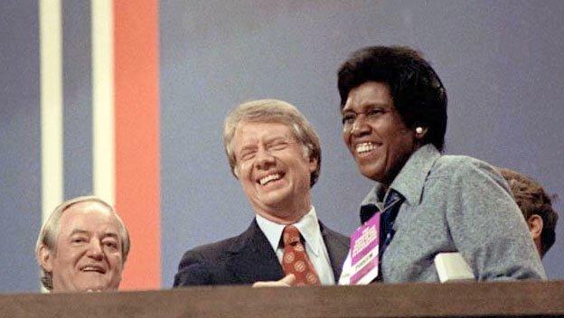 Barbara Jordan giving her KeyNote Address