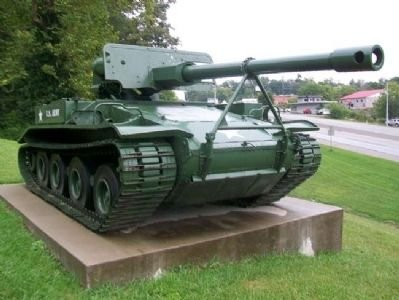 The M56 Scorpion tank added in 2009. These tanks were among the most popular during the Vietnam War, this one being a restored version of one manufactured by General Motors in the 1950s.