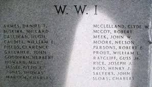 The list of Boyd County veterans who gave their life during World War I.