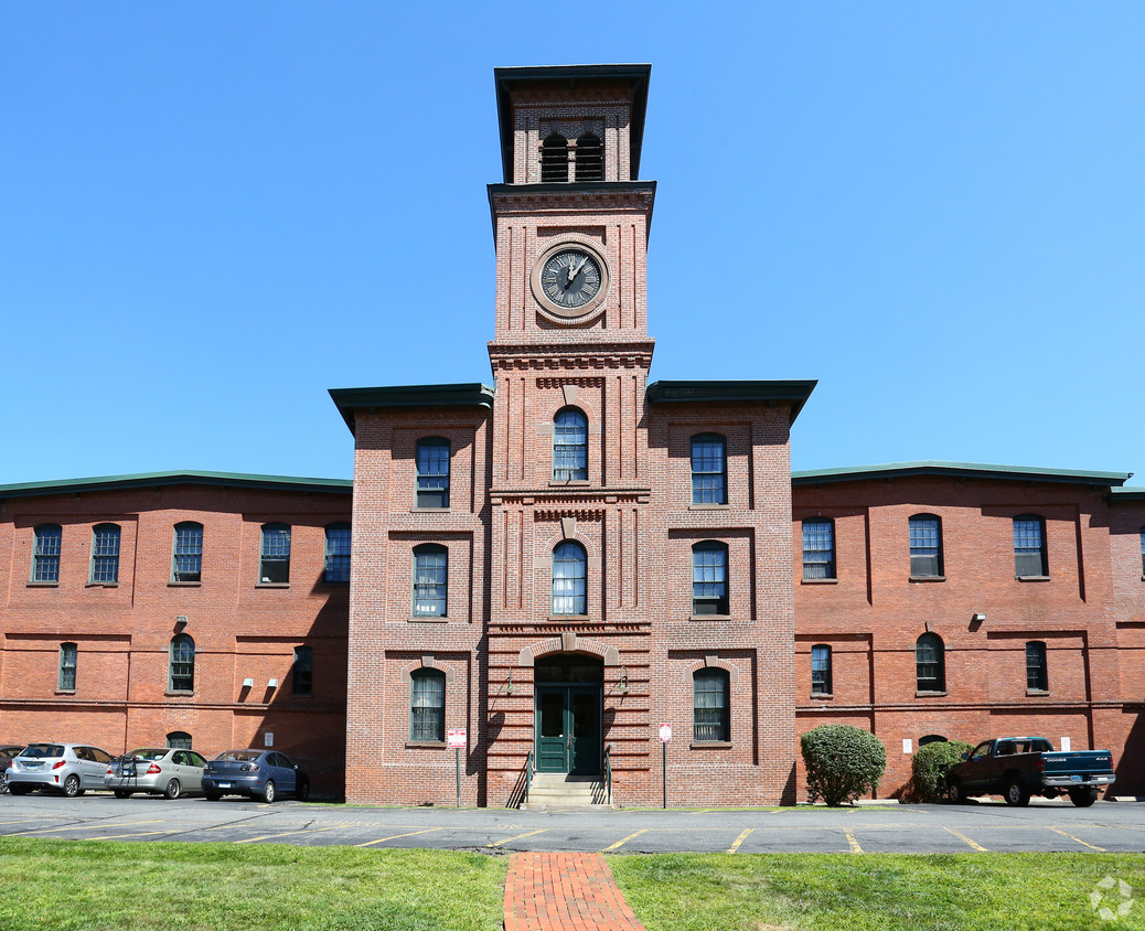 The Clocktower Mills apartment buildings; once, this building was a Cheney Brother silk factory.