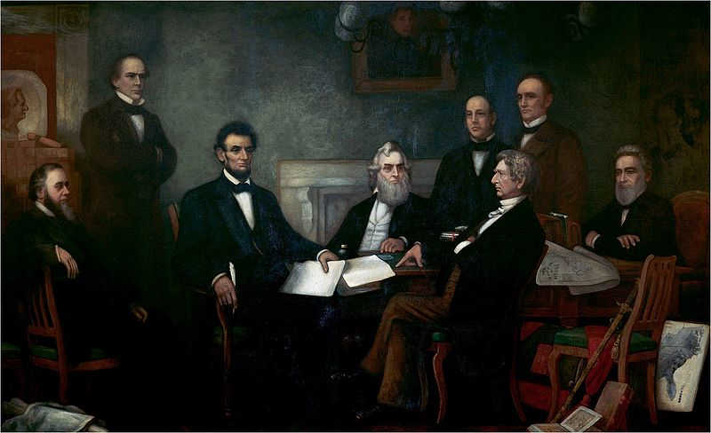 Abraham Lincoln and other members of the Whig party