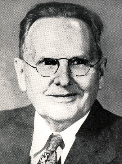Photo of George Awsumb, the creative mind behind the architectural design of the auditorium, which was considered an innovative marvel ahead of its time.