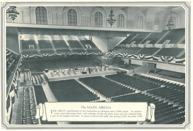 Photo taken from original brochure depicting the Great Amphitheatre, which seats 12,000 people.