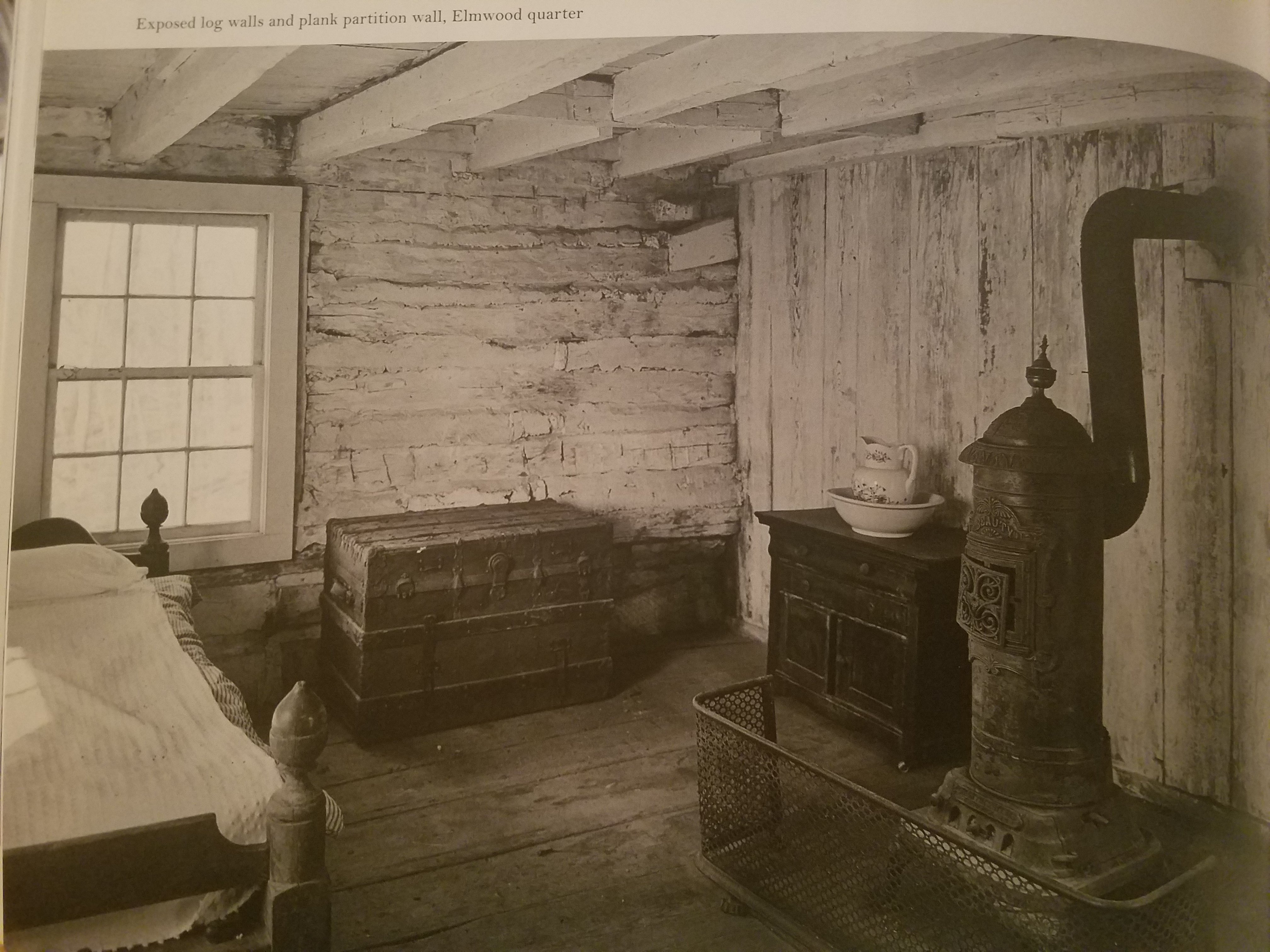 This inside view of the interior of the slave quarters provides a glimpse into the conditions slaves lived in and their history here.