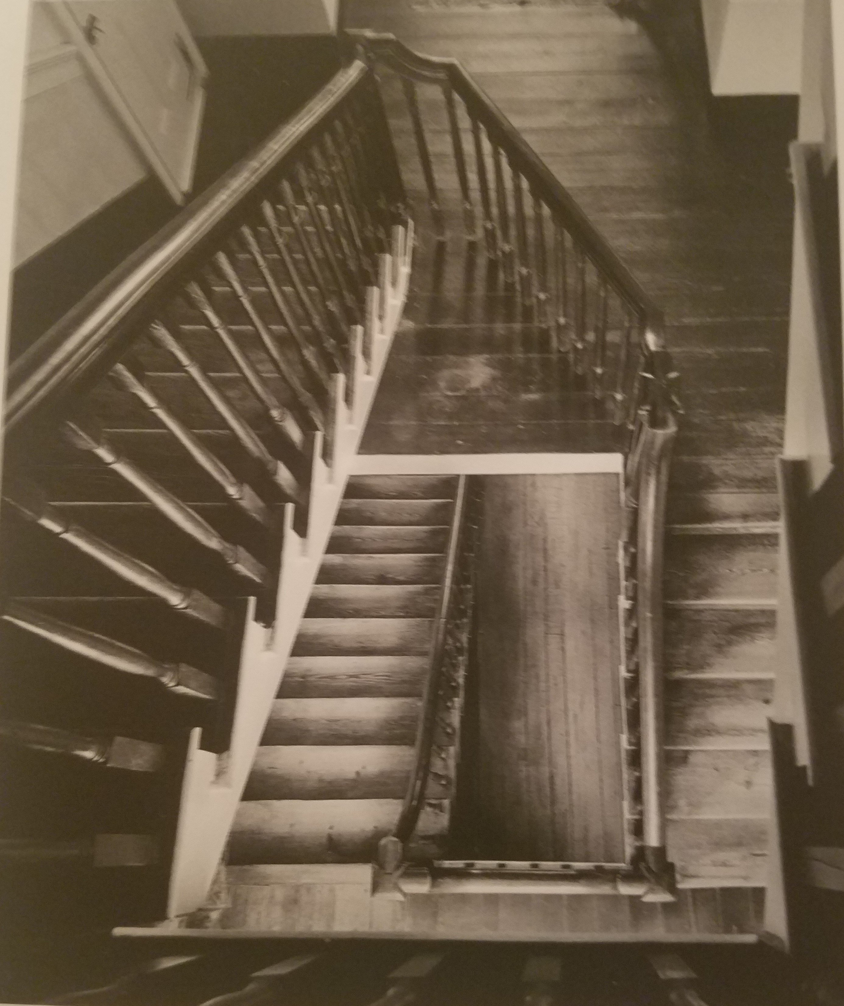 The angled staircase of Elmwood is original and unique.