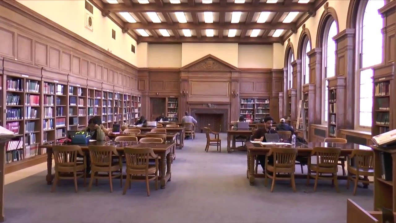 Students utilizing one of the reading rooms