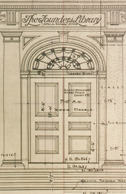 Design of the library's front entrance