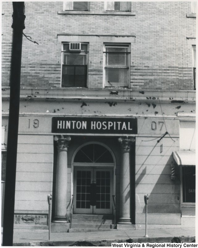 Hinton Hospital, ca. 1940.