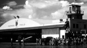 Original hangar at Avenger Field