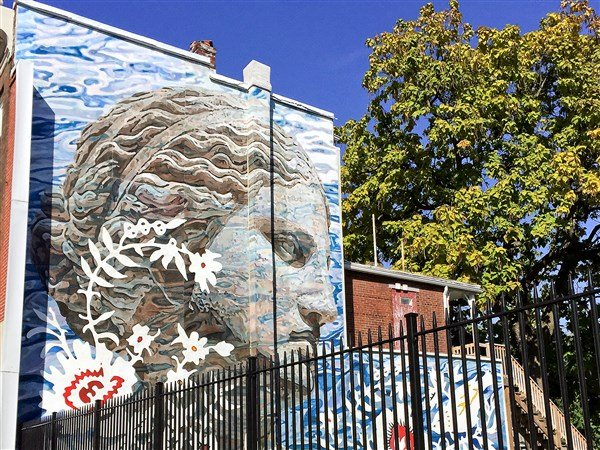 This SAM sponsored mural brightens up a Harrisburg neighborhood.