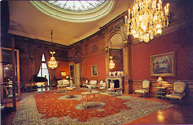 The grand ballroom found on the top floor of the mansion. (Unknown source)