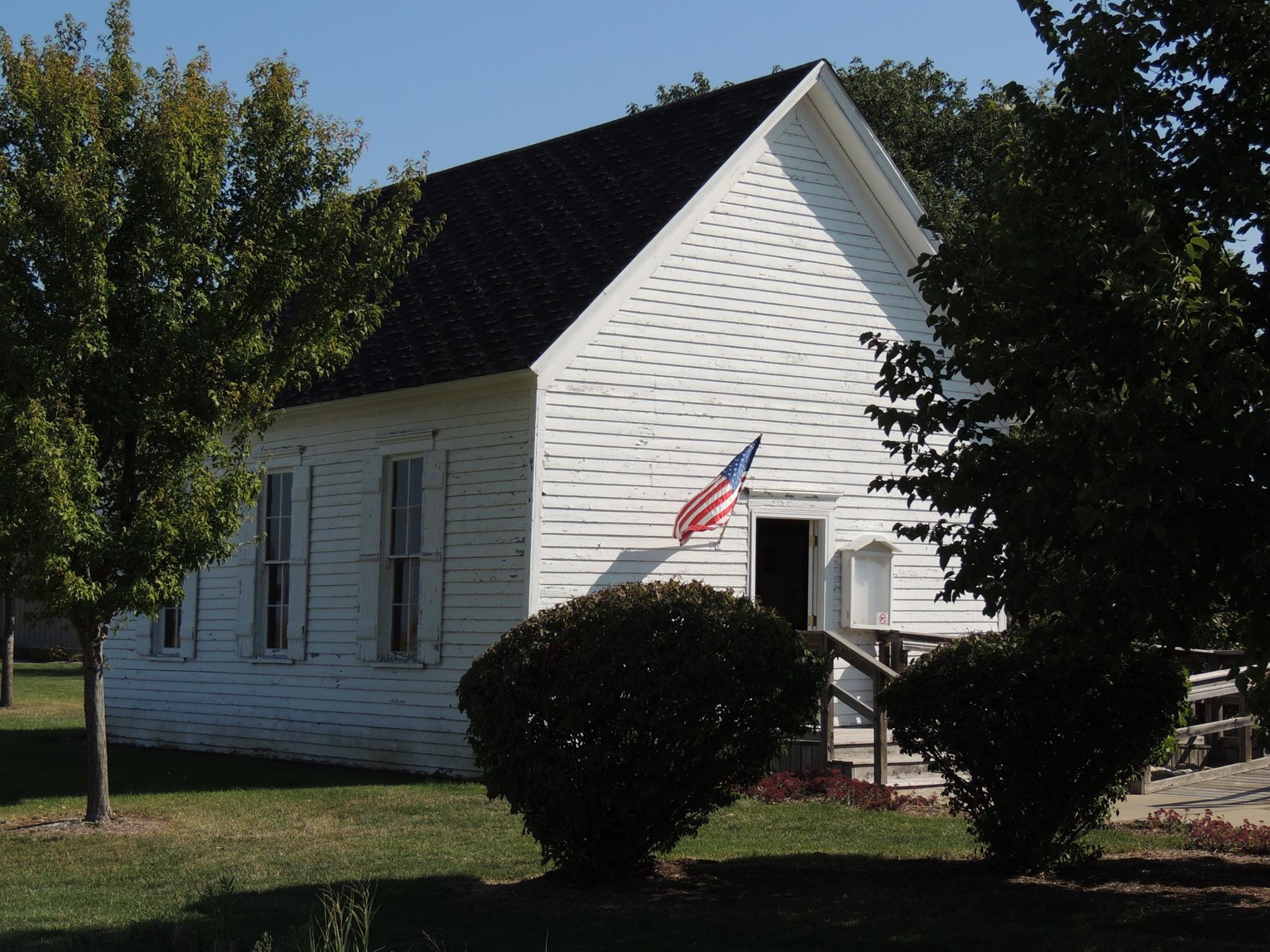 Outside of One-Room Schoolhouse/Hensley Town Hall