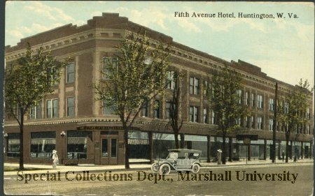 Postcard showing the Fifth Avenue Hotel, circa 1913